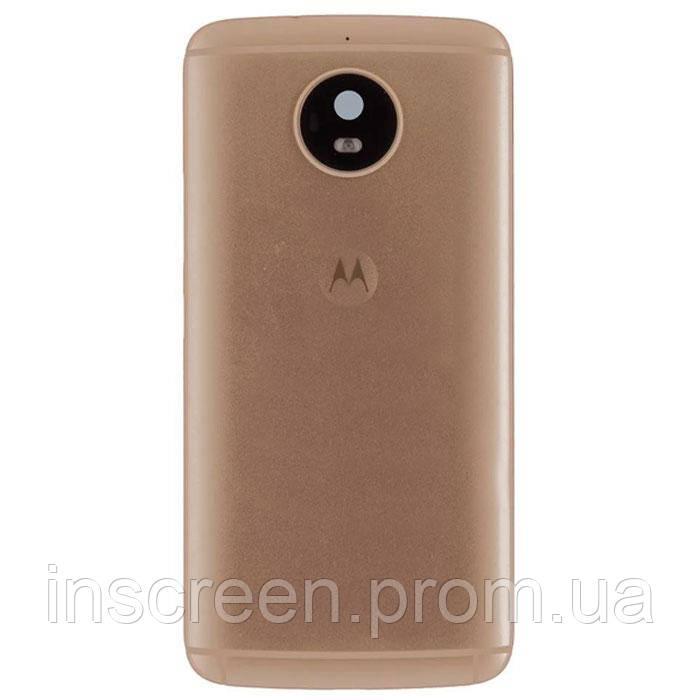 Задня кришка Motorola XT1794 Moto G5S, XT1792, TX1799-2, золотиста, Оригінал Китай скло камери, фото 2