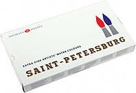 Набір акварельних фарб Санкт- Петербург 24 кольору 2,5 мл кювети в пластиці ЗХК