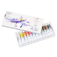 Набір акварельних фарб Білі ночі 12 кольорів в тубах по 10 мл IWS