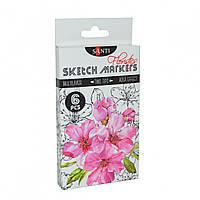 Набір маркерів Sketch  6кол Floristics Santi