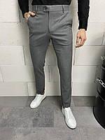Штани класичні чоловічі сірі, фото 1