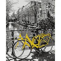 Картина за номерами Прогулянка на велосипеді 40*50 на полотні в коробці Santi