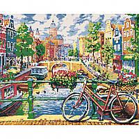 Картина за номерами Амстердам, що зачаровує 40*50 на полотні в коробці Santi