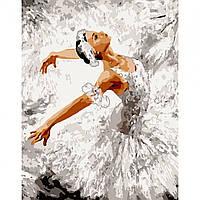 Картина за номерами Грація танцю 40*50 на полотні в коробці Santi