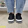 Кроссовки черные текстильные с компенсатором на амортизаторах легкие, фото 5