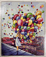 Картина за номерами на полотні 40*50 Повітряні кульки укр, DankoToys (10)