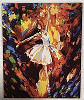 Картина за номерами на полотні 40*50 Балерина в білому укр. DankoToys (10)