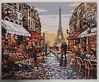 Картина за номерами на полотні 40*50 Париж укр, DankoToys (10)