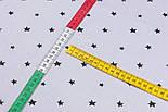 Клапоть сатину з чорними зірками на сірому тлі, №3279с, розмір 24*160, фото 5