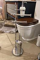 Стойка туалетная напольная с ершиком и дозатором STILHAUS Elite EL 21.08