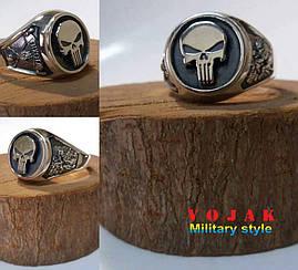 Перстень серебряный Каратель/Пехота