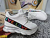 Снікерси кросівки білі з танкеткою на платформі Love, фото 3