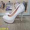 Туфли белые на шпильке с платформой, фото 3