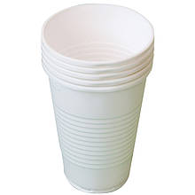 Стакан одноразовий пластиковий 200 мл 100шт білий 1,7 мкм