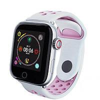 Смарт-годинник c пульсометром Z7 Fit White pink (срібний ободок)