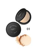 """Пудра компактна """"Parisa Cosmetics"""" PP-04, №01 Світло-бежевий"""