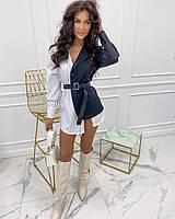 Женское молодежное платье-пиджакдля девушек с поясом Полоска размер 40-46,цвет уточняйте при заказе