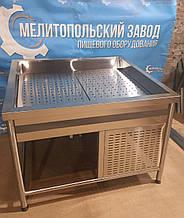 Витрина рыба на льду 1100х1000х850х750 с компрессором
