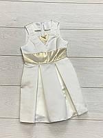 Атласное нарядное платье для девочек. 128-  рост.