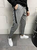 Мужские спортивные штаны серые замок, фото 1
