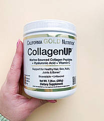 Морской коллаген с гиалуроновой кислотой и витамином С, 206грамм California Gold Nutrition