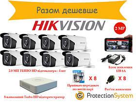 Комплект видеонаблюдения HikKit07 THD 8cam 2MP