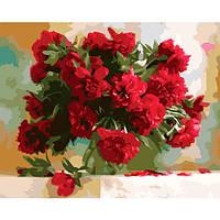 Картина за номерами Червоні півонії 40х50 Brushme (Без коробки) расскраска за номерами