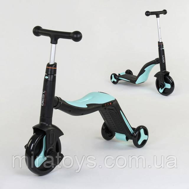 Самокат-велобіг від-велосипед дитячий best scooter 3в1 зі світлом і музикою 20255