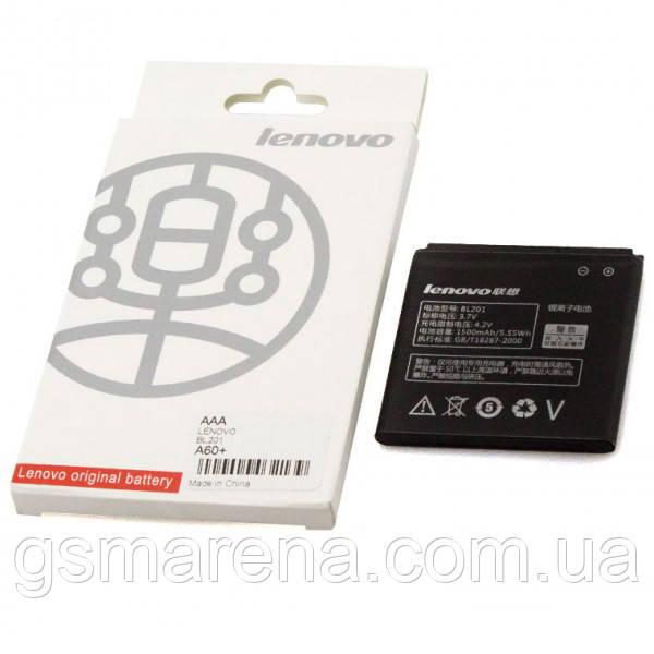 Аккумулятор Lenovo BL201 1500mAh A60, A60+ коробка
