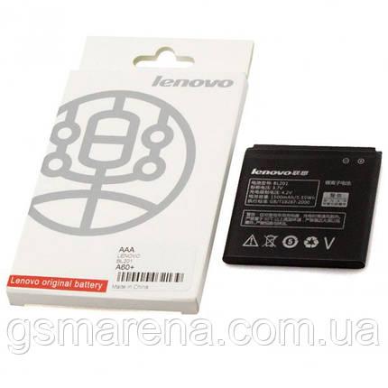 Аккумулятор Lenovo BL201 1500mAh A60, A60+ коробка, фото 2