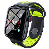 Смарт-годинник c пульсометром Z7 Fit Black green (чорний ободок)