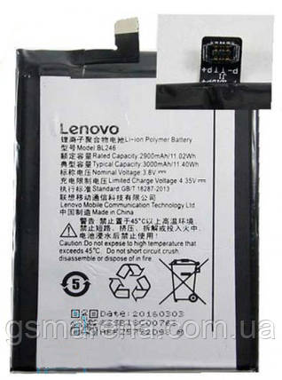Аккумулятор Lenovo BL246 3000mAh Vibe Shot коробка, фото 2