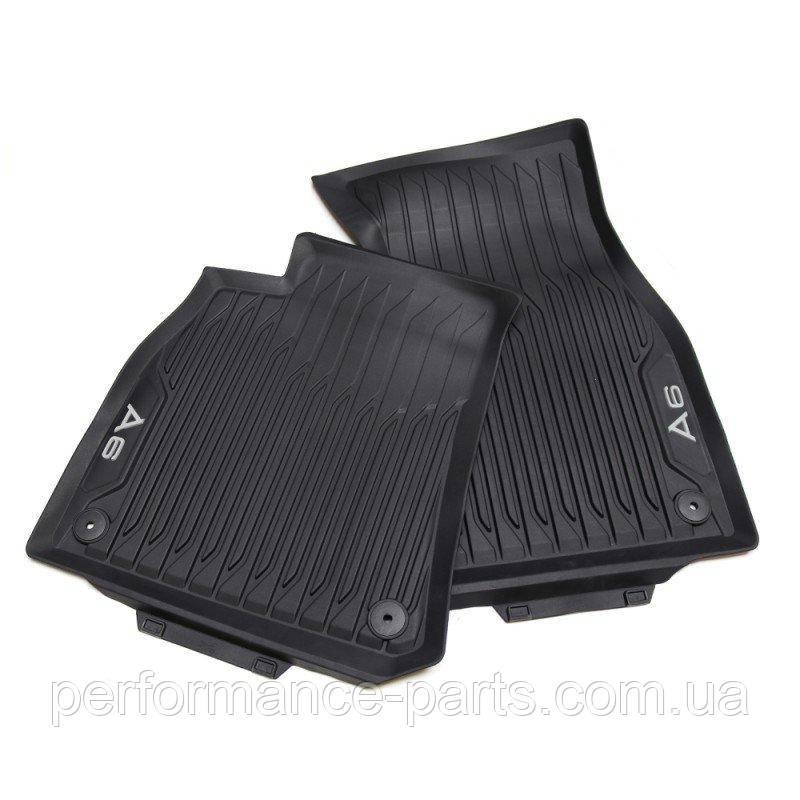 Гумові передні килимки Audi A6 (C8), контрастна напис 4K1061501041
