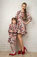 Жаккардовые костюмы для мамы и дочки