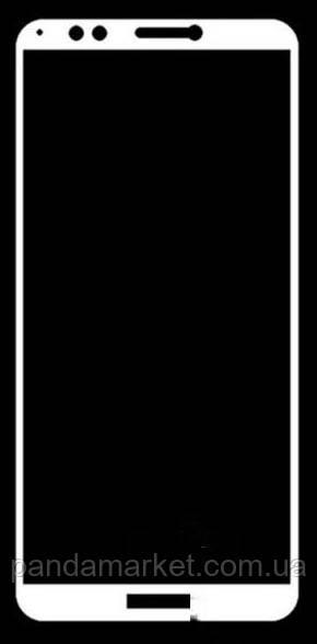 Захисне скло 5D Huawei Y9 (2018), Enjoy 8 Plus Білий