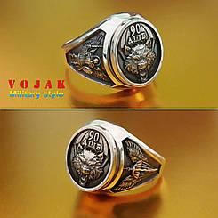 Перстень серебряный 90 батальйон