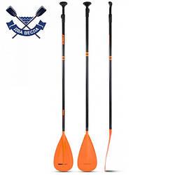 Трехсекционное углепластиковое весло для SUP доски Fusion Stick Orange 3 pcs 170-210 см телескопическое весло