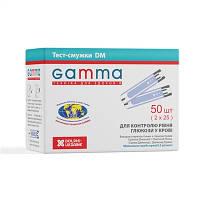 Тест-полоски Gamma DM, 50 шт до 04.02.2022, фото 1