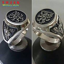 Перстень серебряный 80 бригада