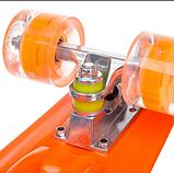 Скейтборд пластиковый Penny со светящимися колесами Оранжевый, фото 3