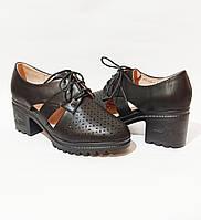 Женские туфли, на удобном устойчивом каблуке в черном цвете практичная не дорогая обувь 37
