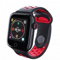 Смарт-годинник c пульсометром Z7 Fit Black red (чорний ободок)