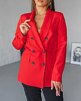 Красный женский пиджак