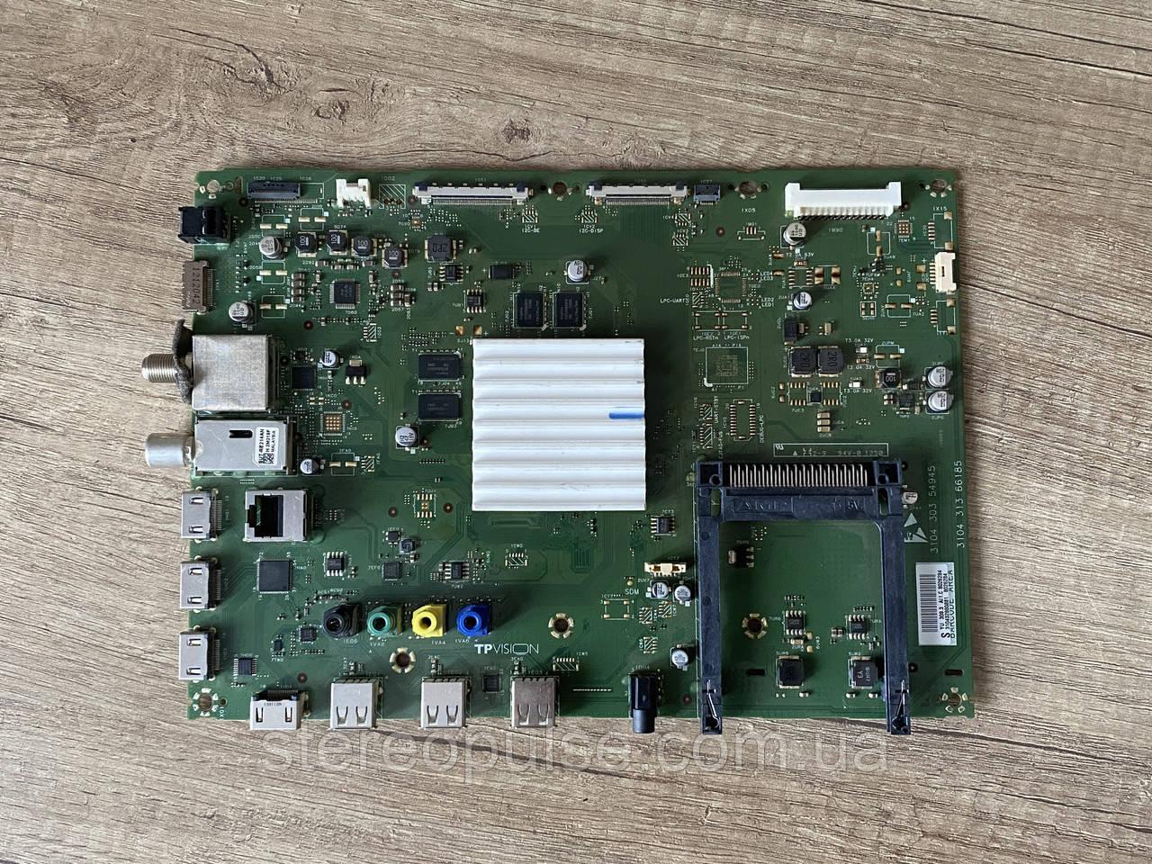 Main (материнська) плата QFU 1.2 E LA для телевізорів Philips PFL6XXX (3104 303 54945/ 3104 313 66185)