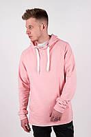 Кофта мужская оверсайз Dark весенняя осенняя розовая   Худи Толстовка мужская прямого кроя ЛЮКС качества
