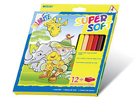 Цветные карандаши Marco 12 цветов Colorite JUMBO Super Soft с точилкой, восковый 1650-12CB