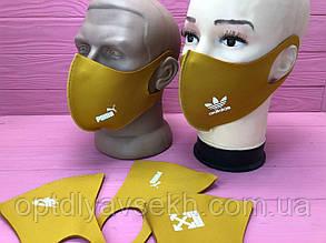 Багаторазова захисна маска пітта Гірчичний