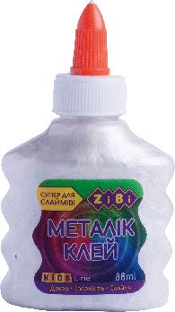 Клей Zibi МЕТАЛЛИК (для слаймов) серебряный 88 мл