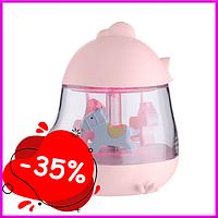 Детский Ночник Карусель Розовый музыкальный ночник светильник для младенца в детскую
