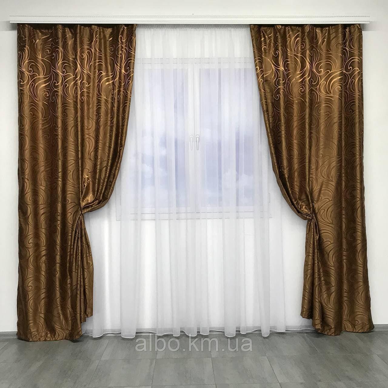 Готовые жаккардовые шторы для зала спальни детской, шторы для кухни комнаты квартиры, портьеры для дома